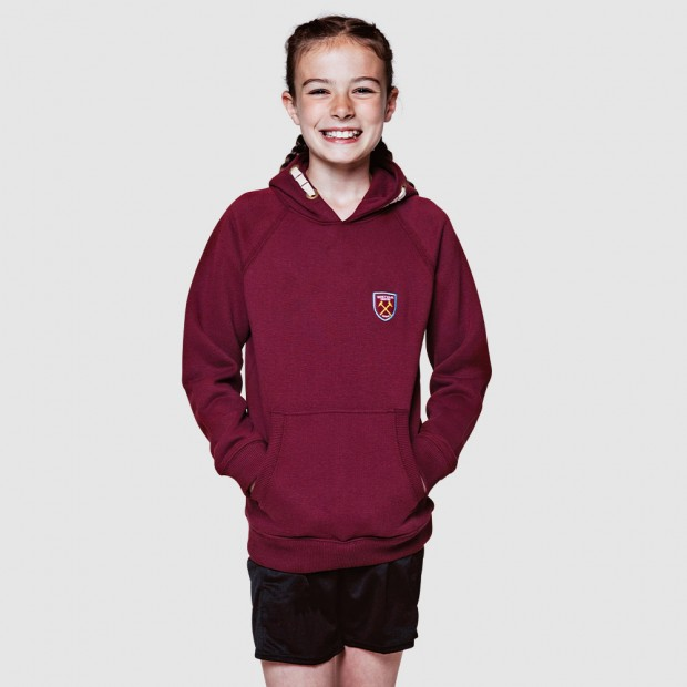 CLUB CLASSICS - JUNIOR CLARET HOODY