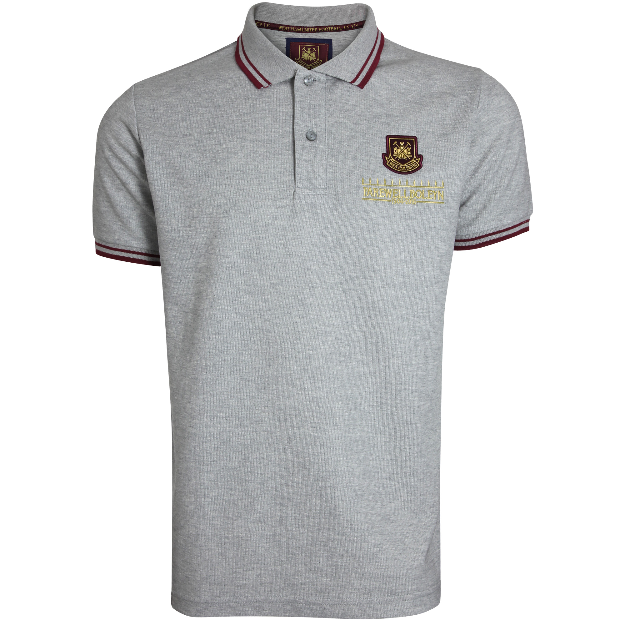 FAREWELL BOLEYN - ADULT GREY MARL TIPPED POLO