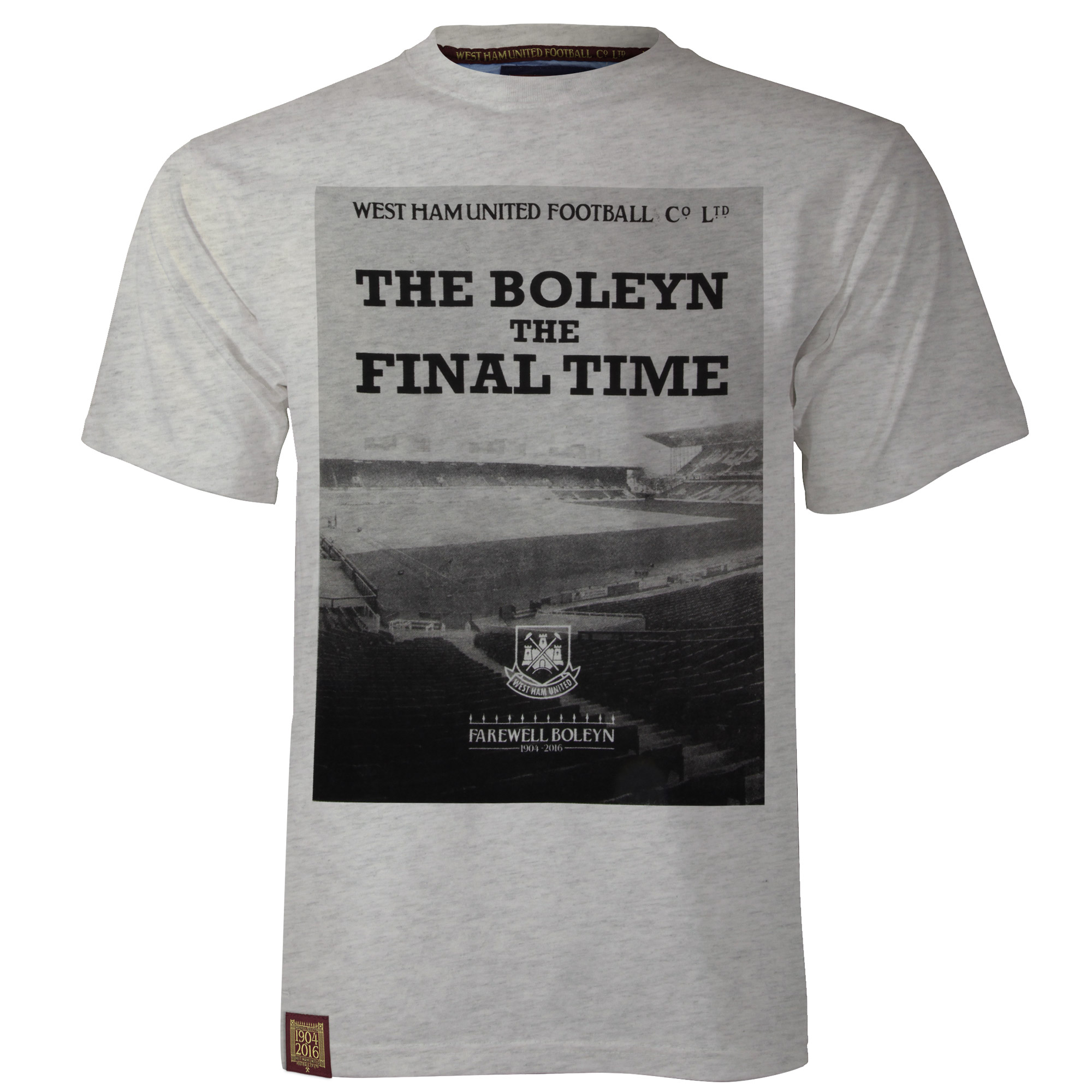 FAREWELL BOLEYN - ADULT GREY MARL T-SHIRT