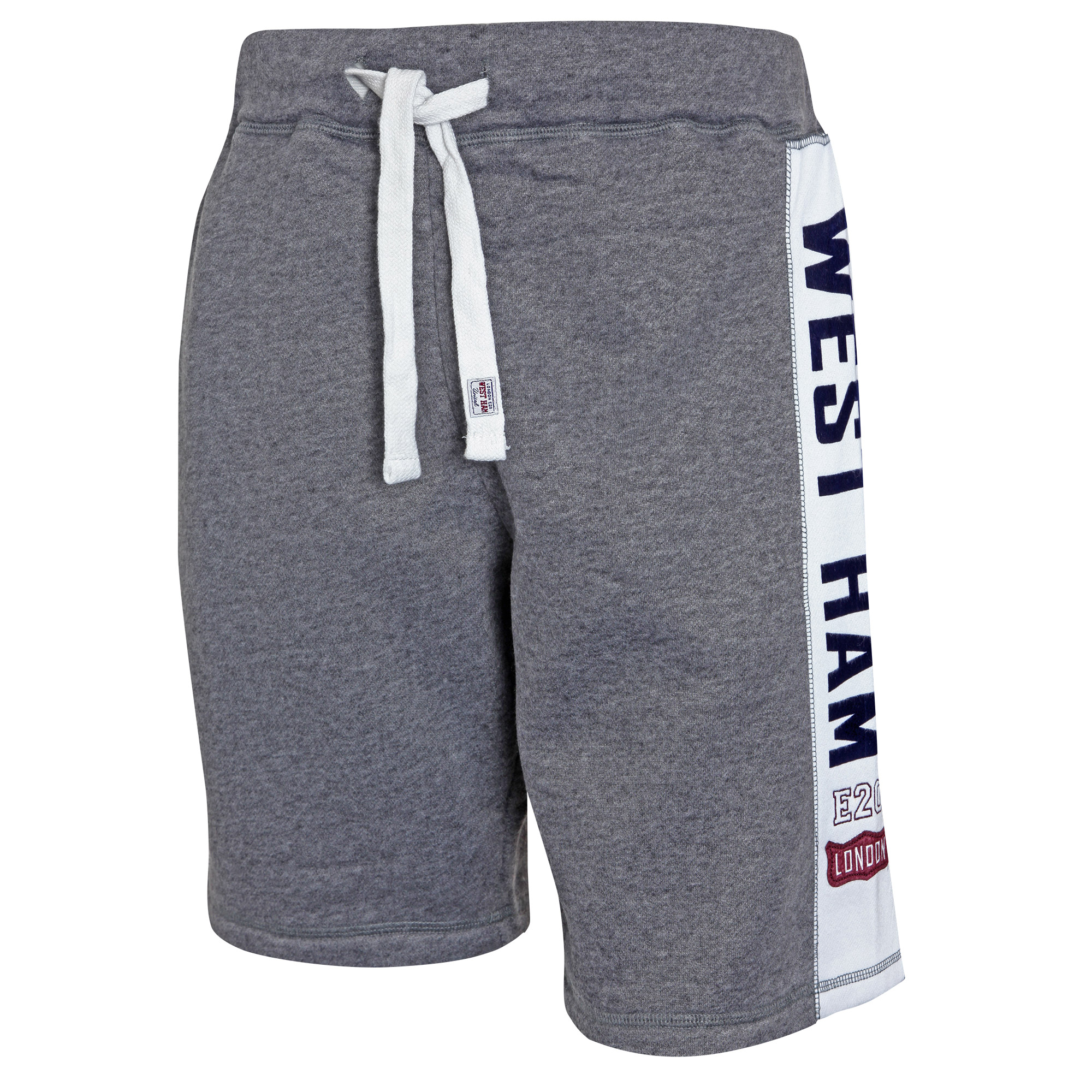 GREY SIDE PANEL FLEECE SHORTS