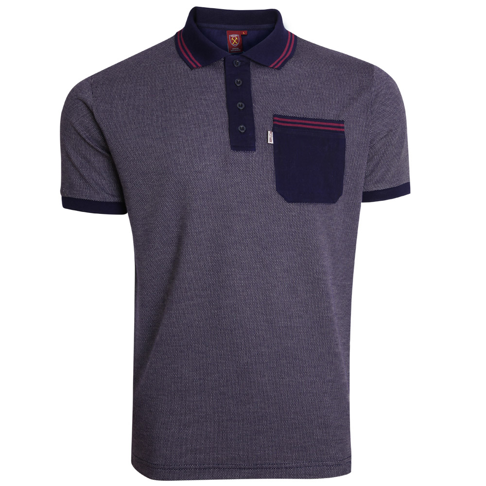 NAVY TEXTURED POLO