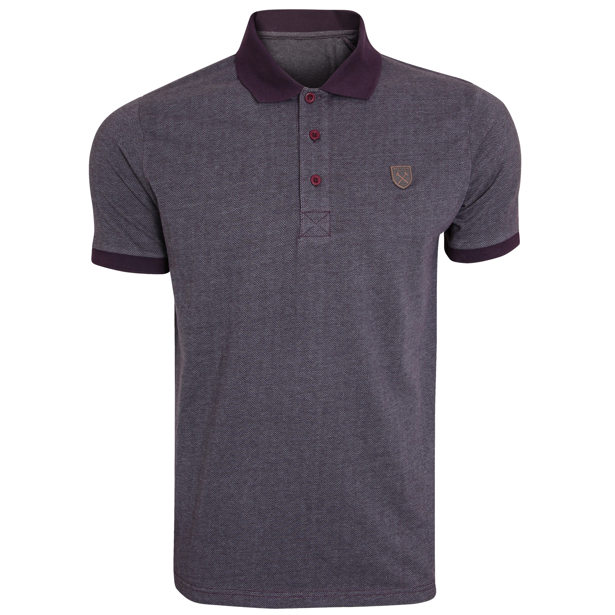 CLARET TEXTURED POLO