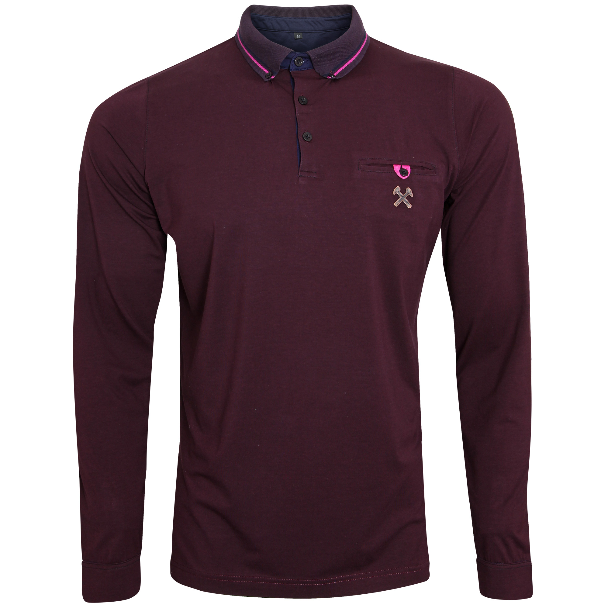 CLARET COLLECTION - CLARET LONG SLEEVE POLO