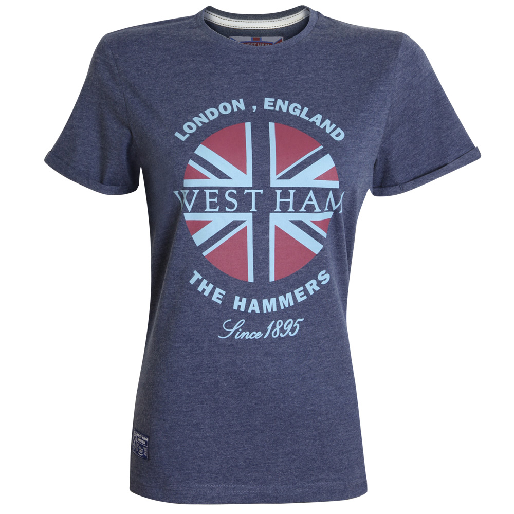 LADIES NAVY UNION T-SHIRT