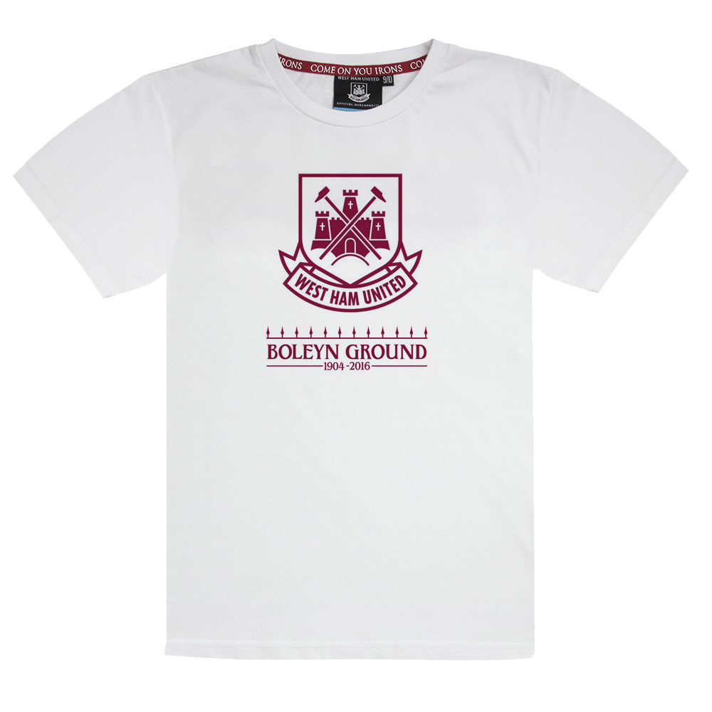 KIDS WHITE FAREWELL BOLEYN LOGO T-SHIRT