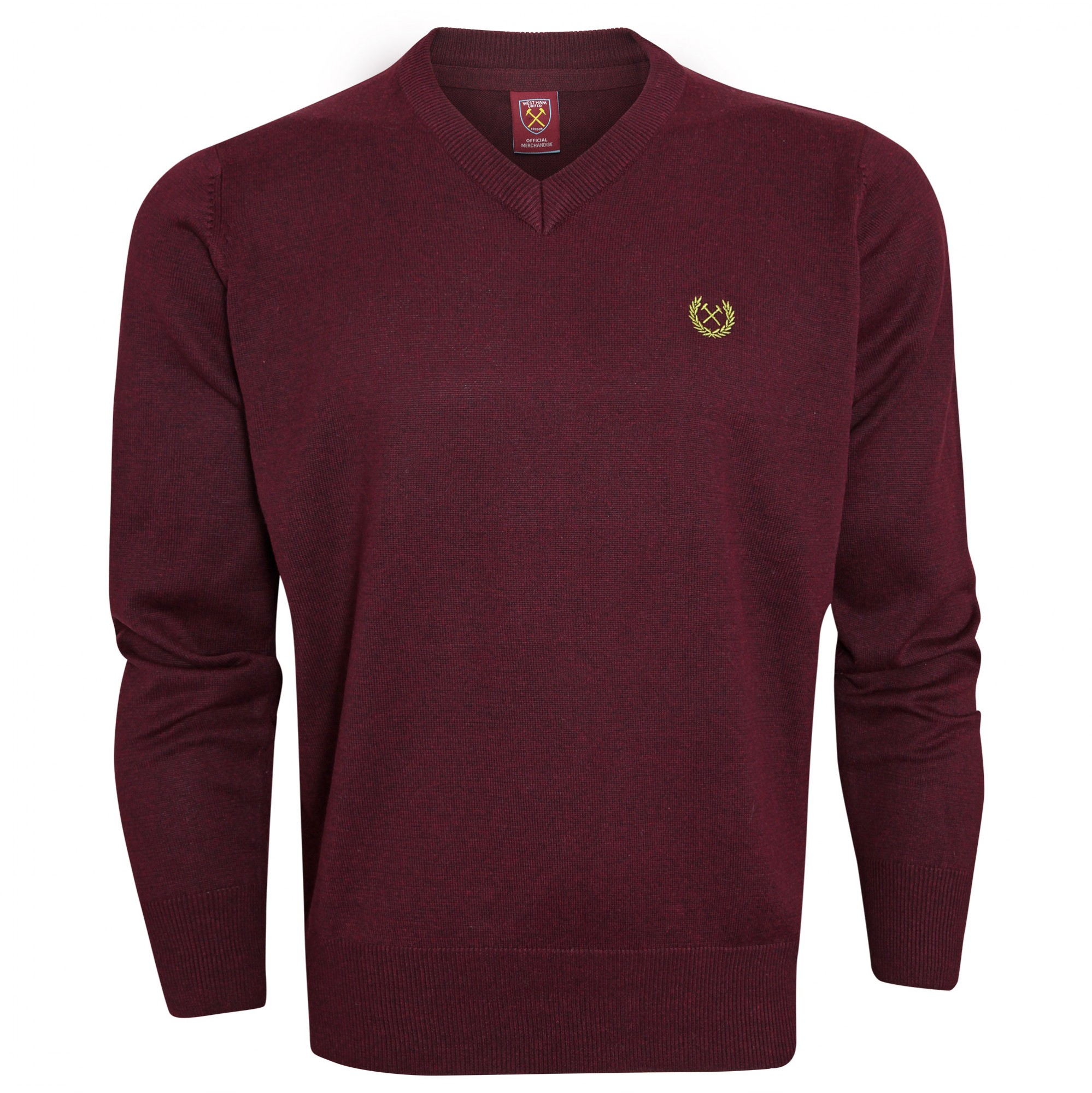2440 - CLARET V-NECK JUMPER