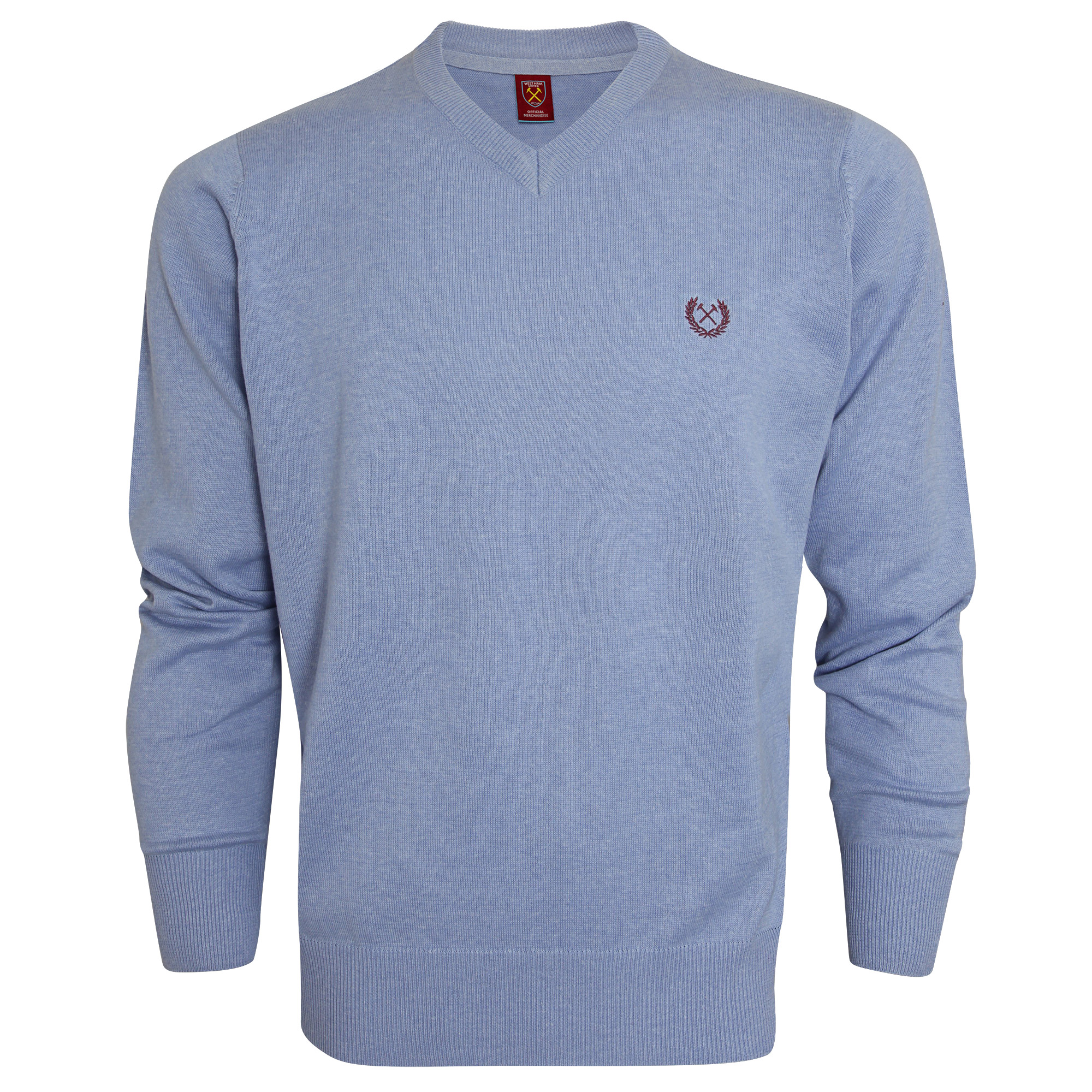 KENTUCKY BLUE V-NECK JUMPER