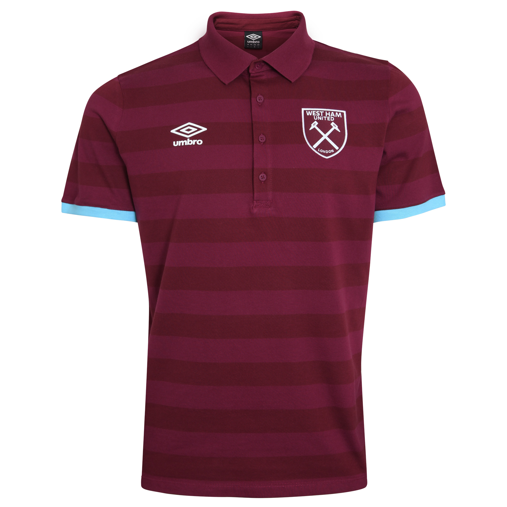 2016/17 ADULTS STRIPE POLO CLARET