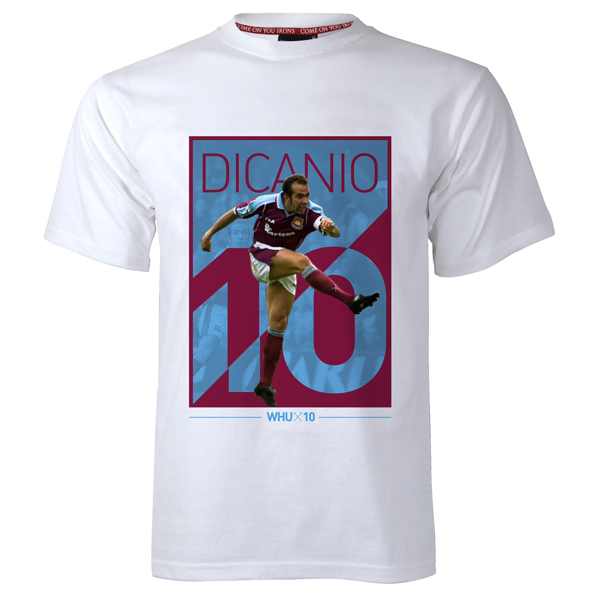 ADULT WHITE DI CANIO BLOCK T-SHIRT