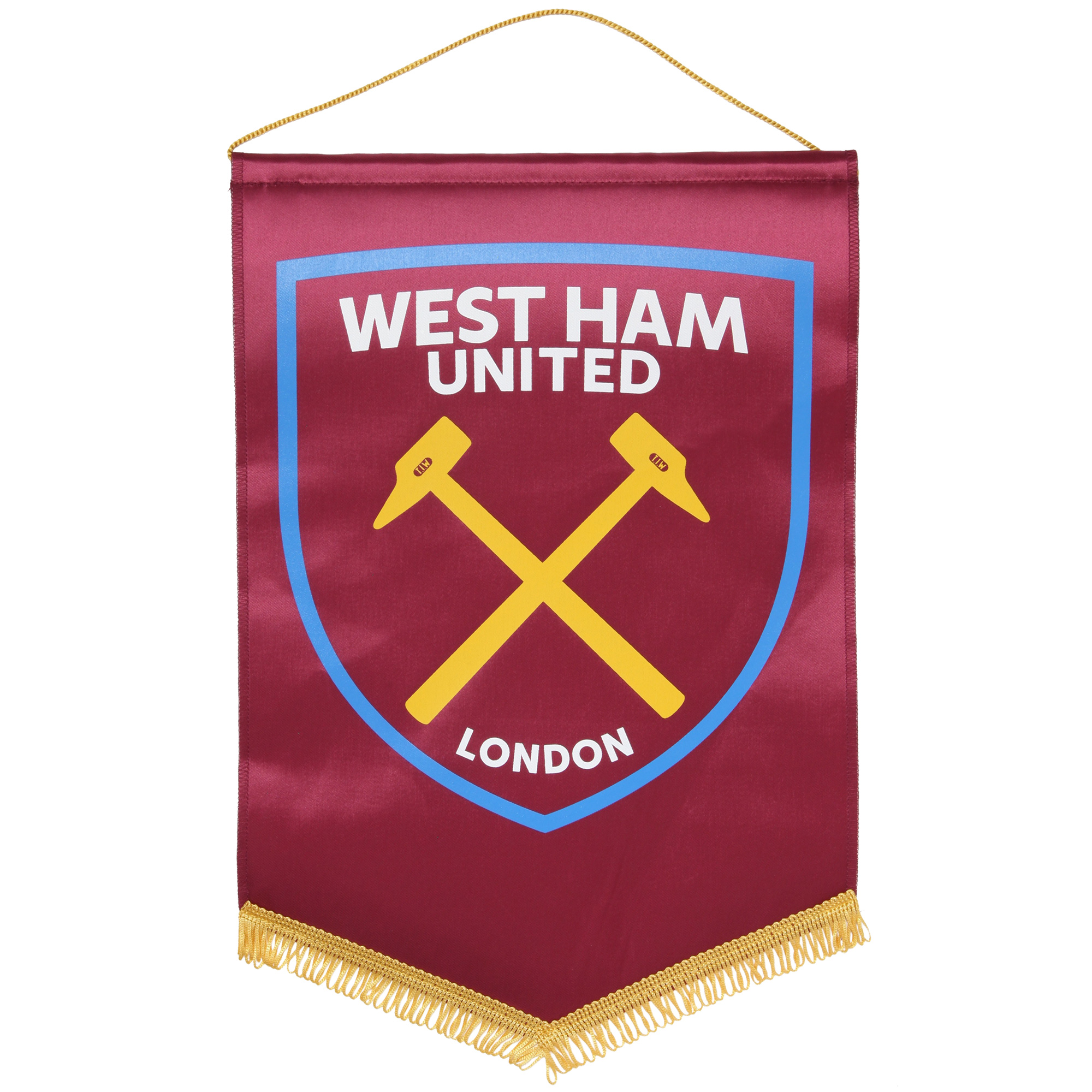 LARGE CLARET HAMMERS PENNANT
