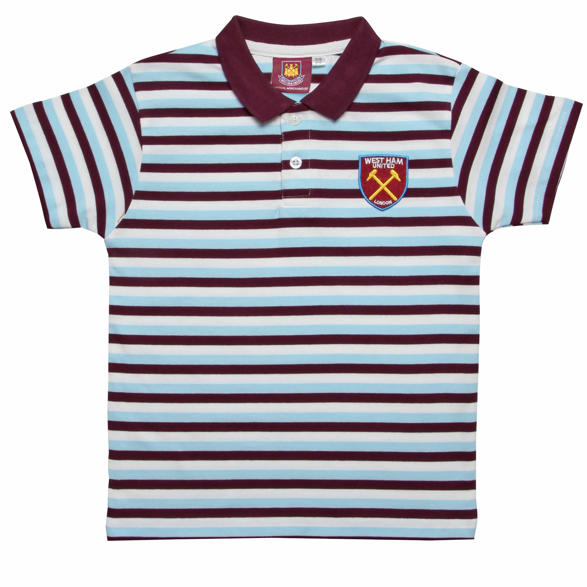 JUNIOR STRIPE CREST POLO