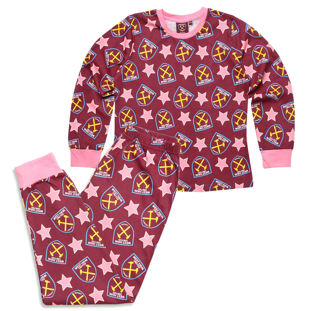 GIRLS CREST STAR PYJAMAS
