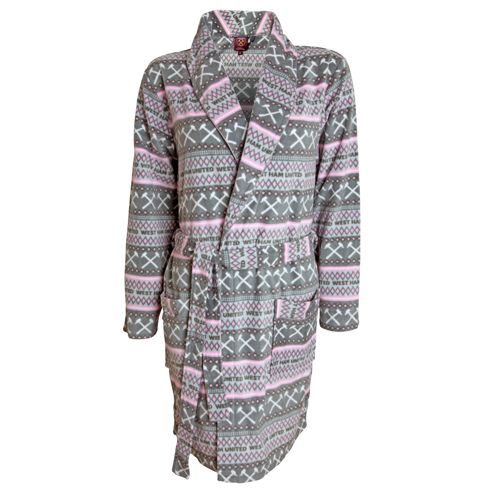 Ladies Greypink Dressing Gown