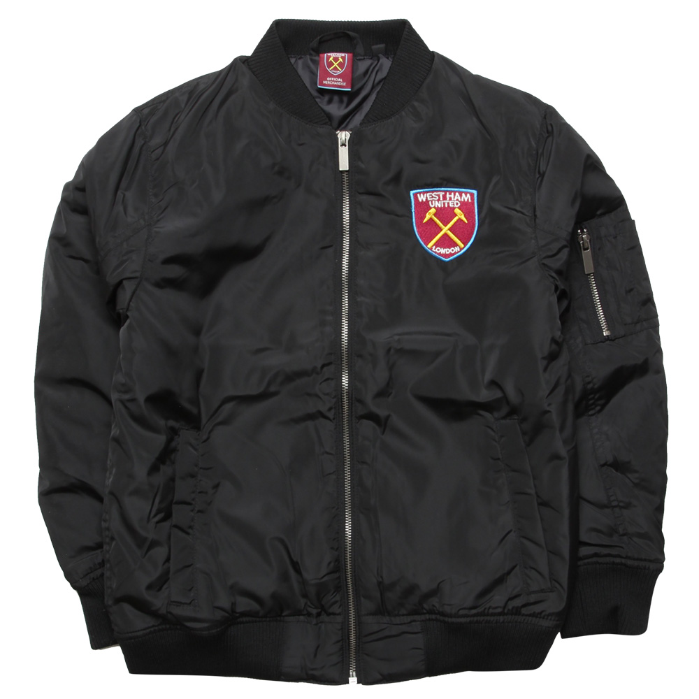 JUNIOR BLACK BOMBER JACKET