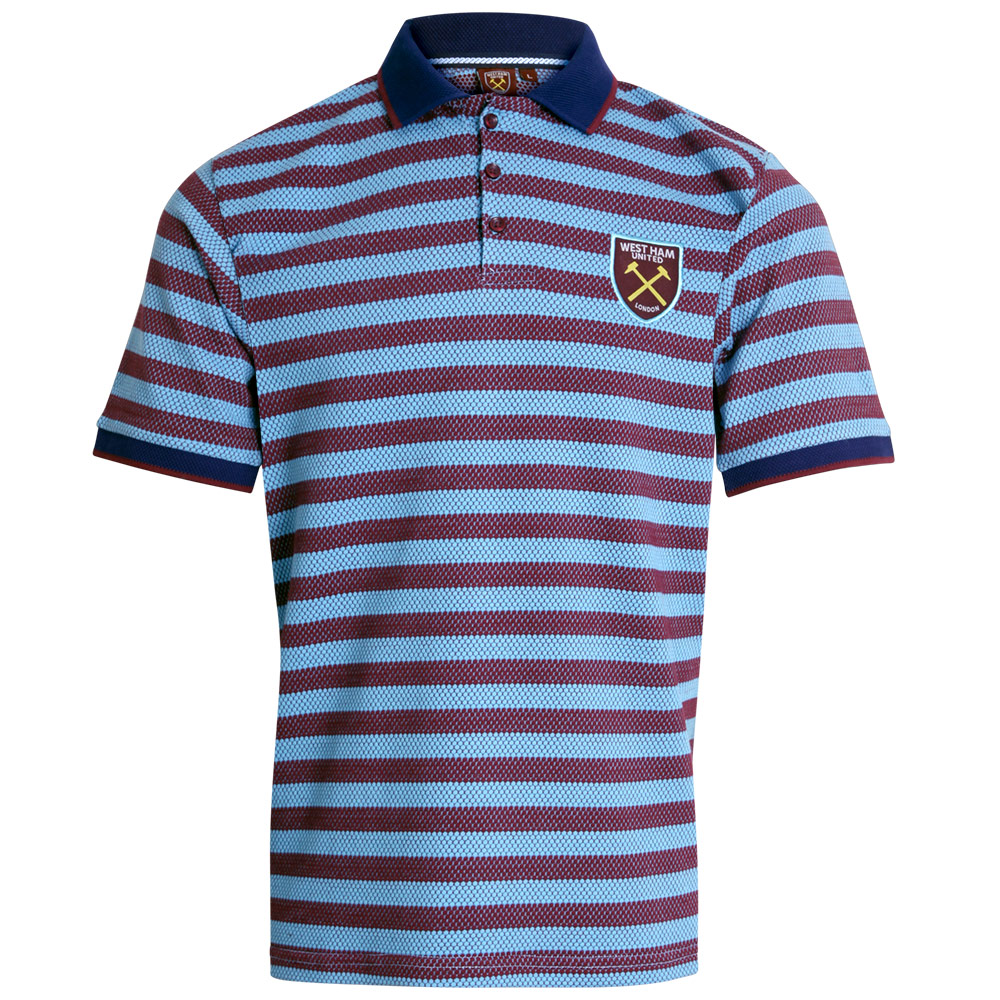 CLARET & BLUE PETEK STRIPE POLO