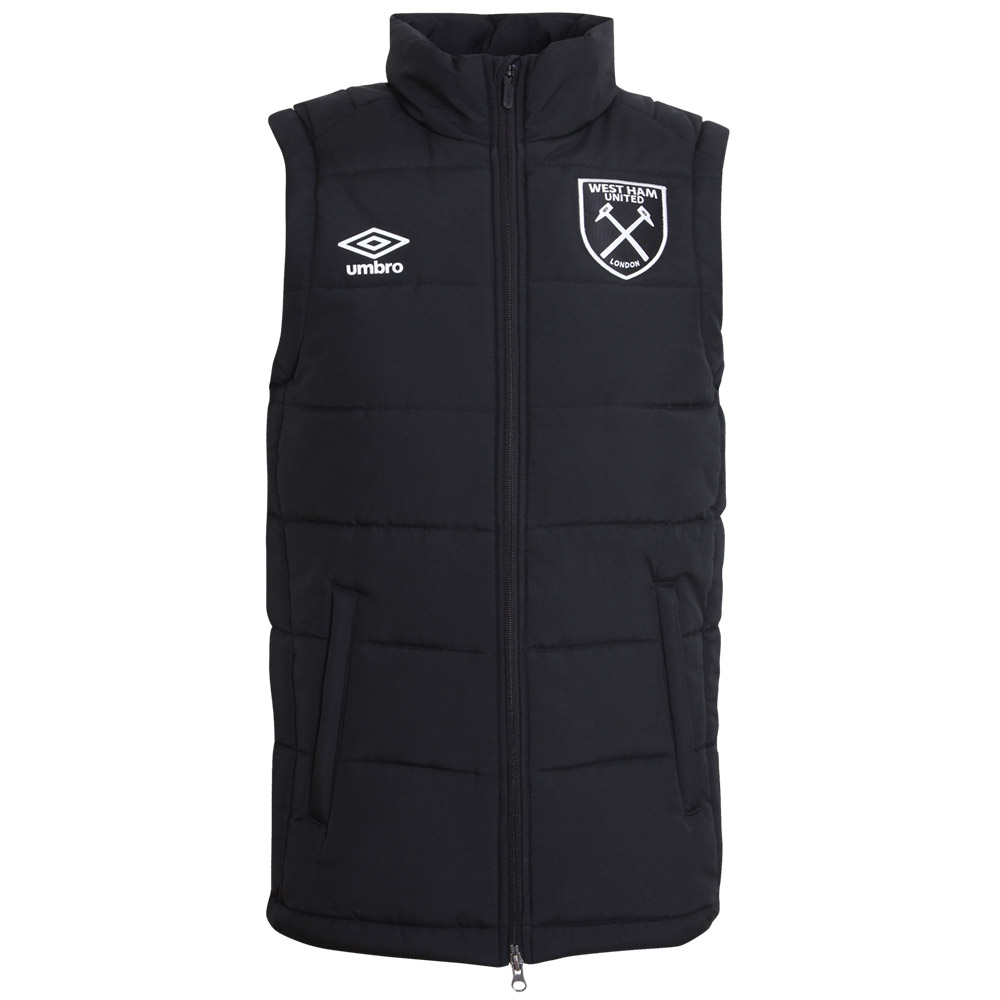 2017/18 ADULTS PADDED GILET BLACK