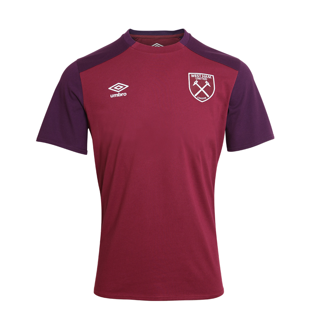 2017/18 JUNIOR TRAINING CVC T-SHIRT CLARET