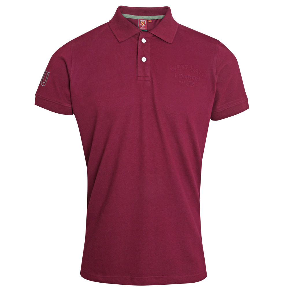 CLARET EMBOSSED POLO