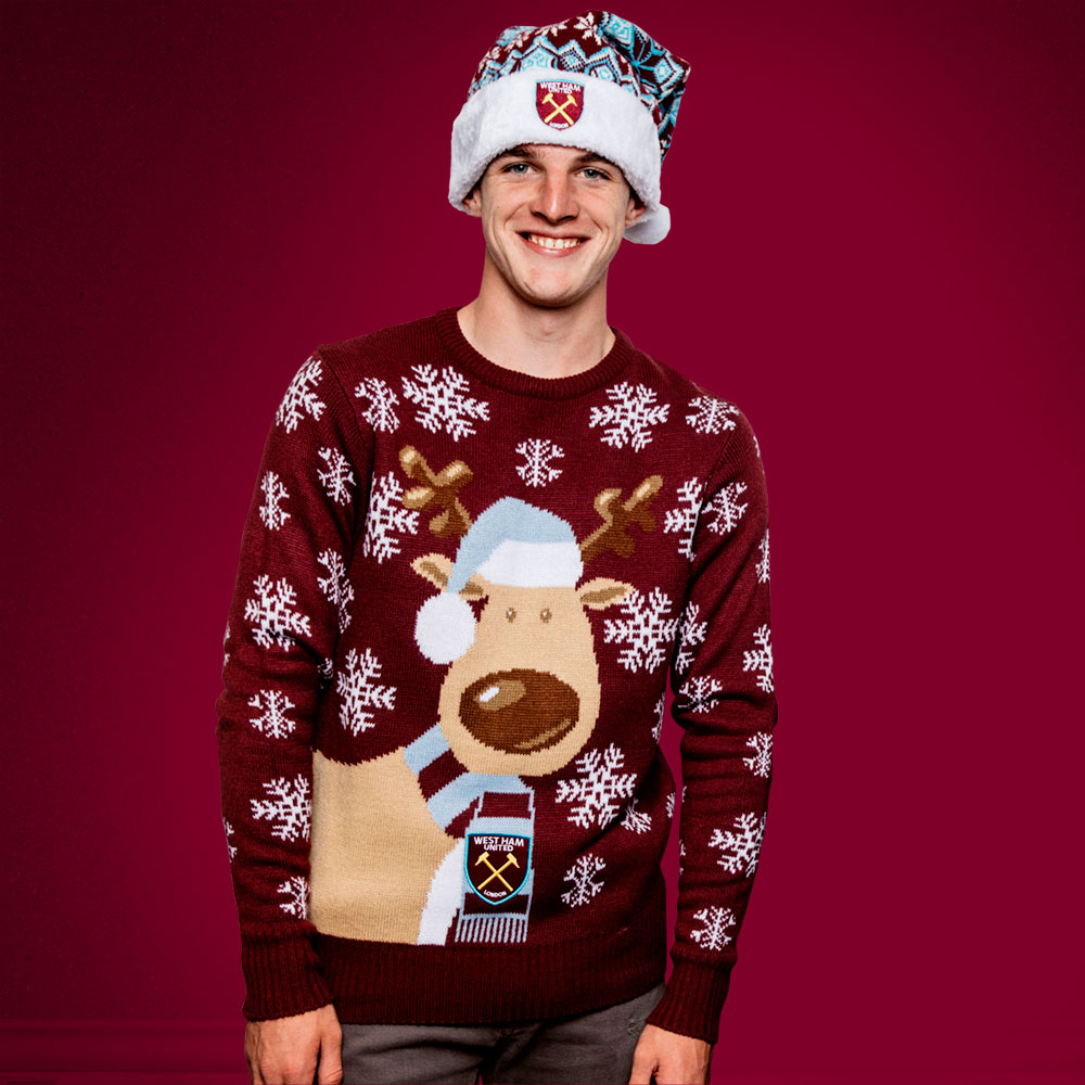 JUNIOR CLARET REINDEER JUMPER