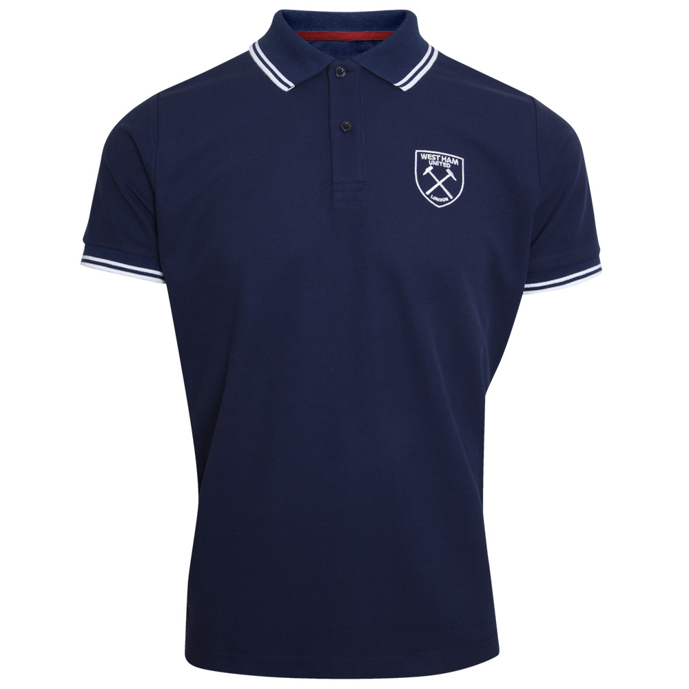 ADULT NAVY/WHITE CREST POLO