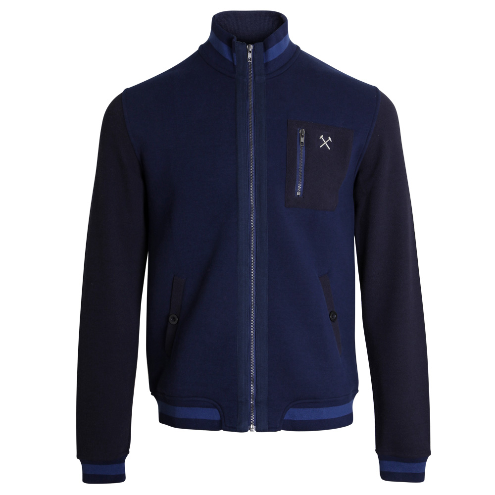 CLARET COLLECTION -  NAVY ZIP JACKET