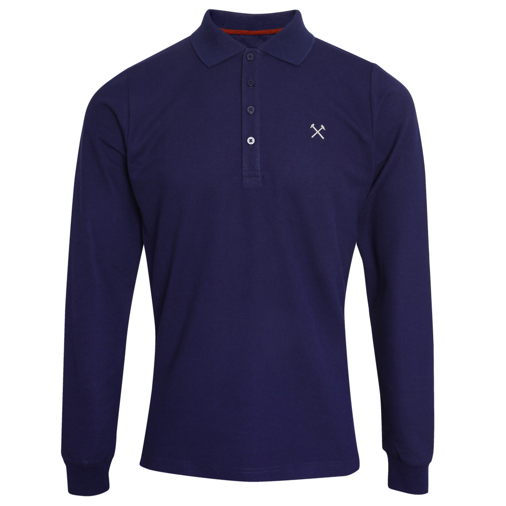 CLARET COLLECTION -  NAVY LONG SLEEVE POLO