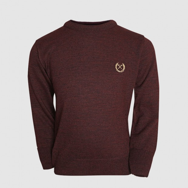 2430 - JUNIOR CLARET MARL JUMPER