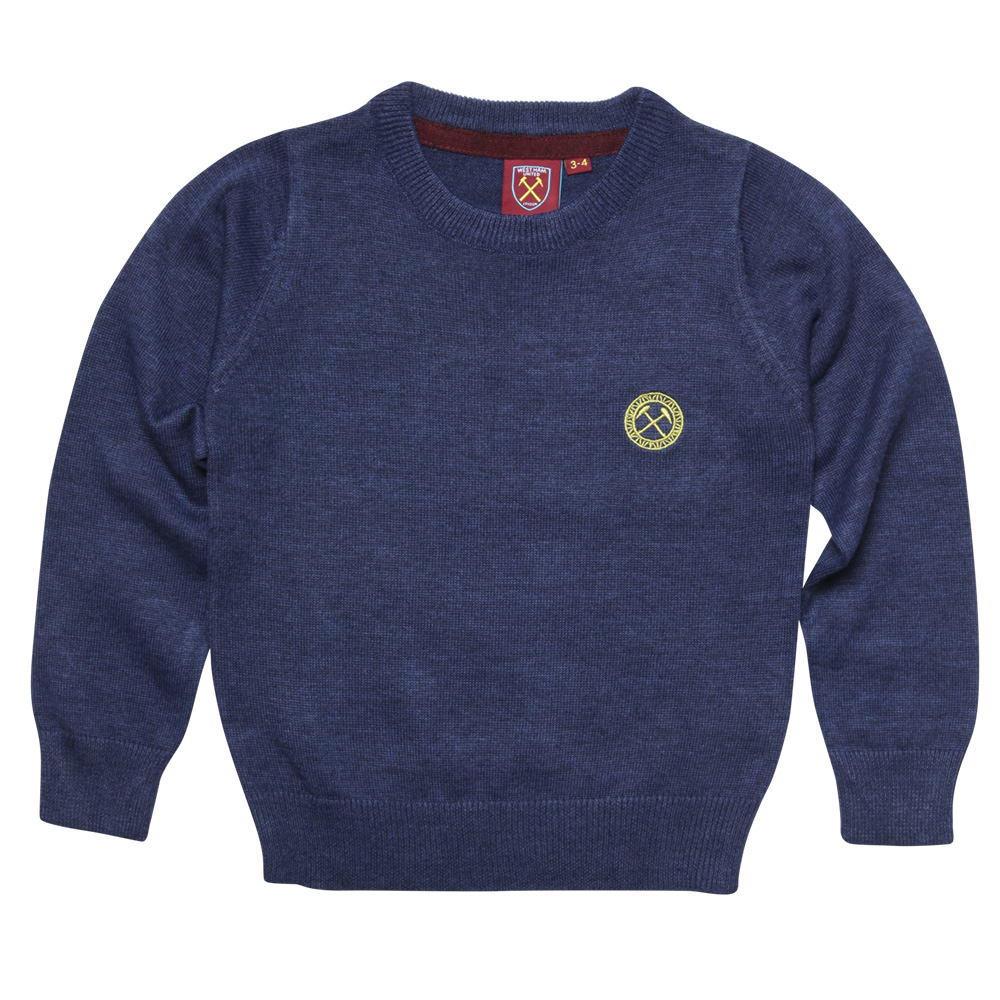 2430 - JUNIOR NAVY MARL JUMPER