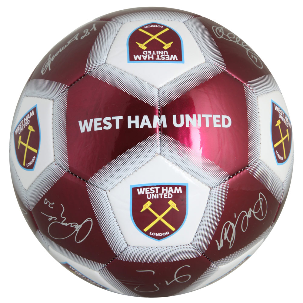 CLARET/WHITE SIGNATURE FOOTBALL