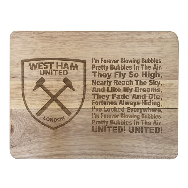 2 Forever Blowing Bubbles West Ham Retro Vintage Metal Wall Sign