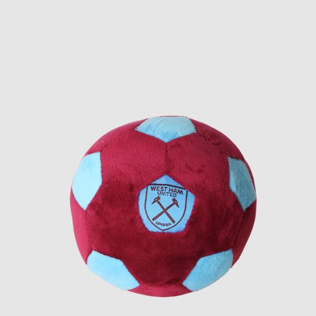 CLARET AND BLUE PLUSH BALL
