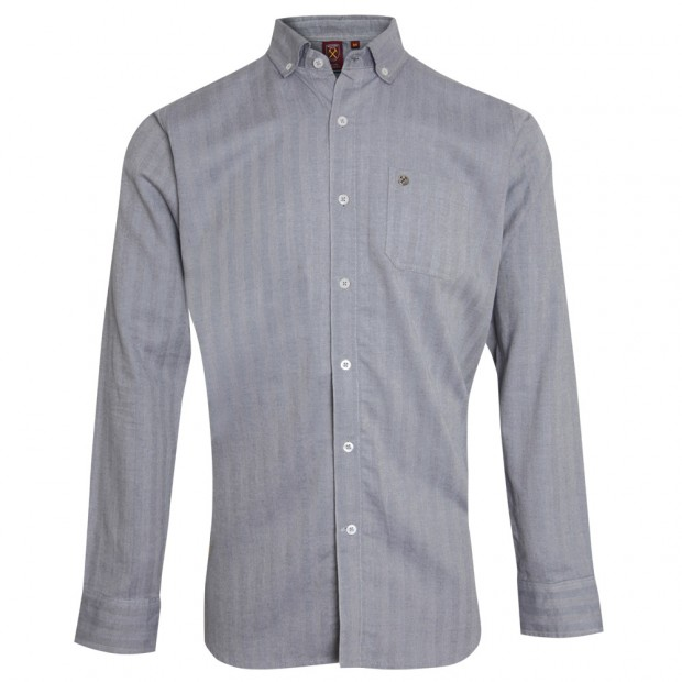 CLARET COLLECTION - GREY LONG SLEEVE SHIRT