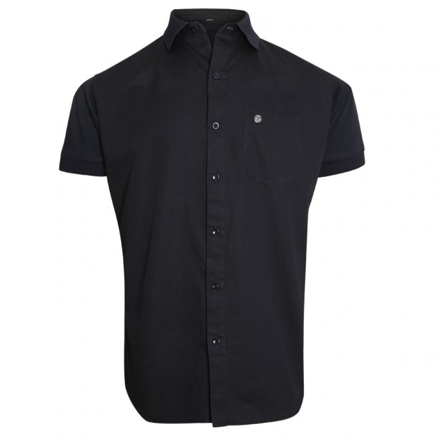 CLARET COLLECTION - BLACK SHORT SLEEVE SHIRT