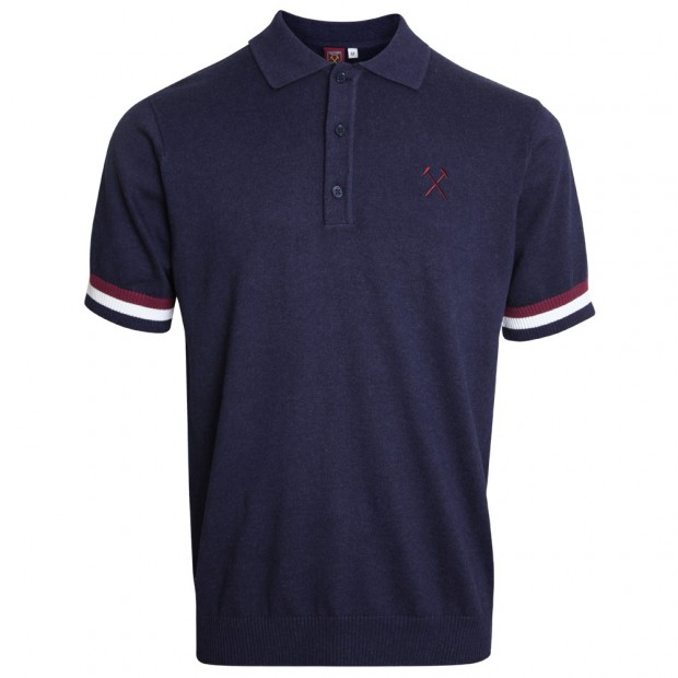 NAVY KNITTED POLO c355ed028028