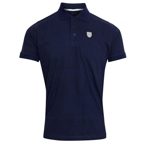 NAVY TONAL STRIPE POLO