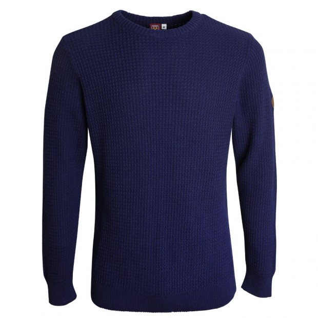 NAVY RIBBED SWEATSHIRT