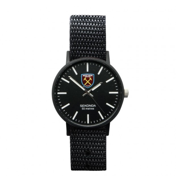 YOUTH REVERSIBLE BLACK/CLARET STRAP WATCH