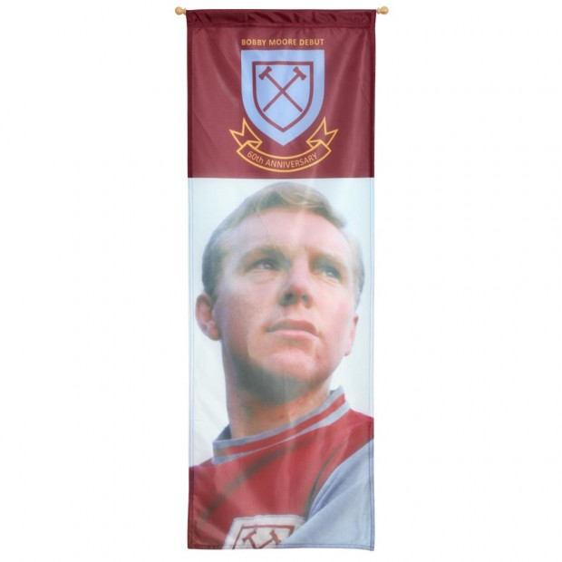 60th ANNIVERSARY BOBBY MOORE BANNER