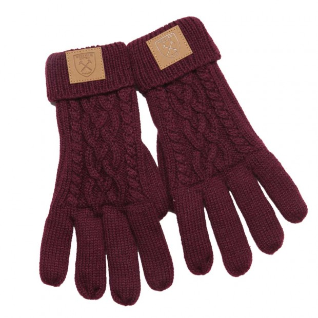 CLARET CHUNKY GLOVES