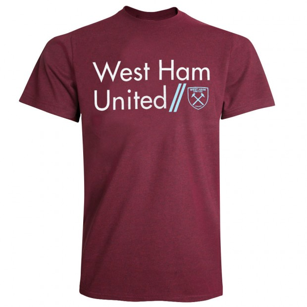 CLARET FLECK WEST HAM T-SHIRT
