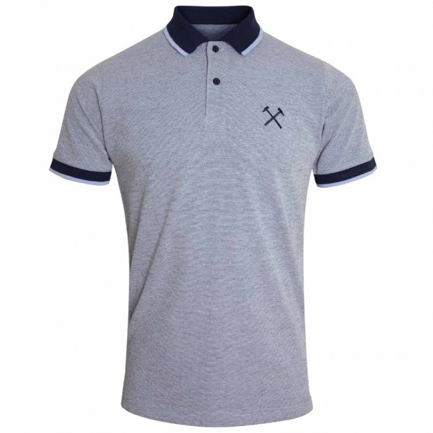 BLUE/NAVY TIPPED POLO