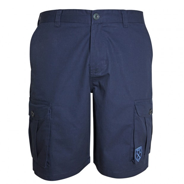 NAVY CANVAS SHORTS