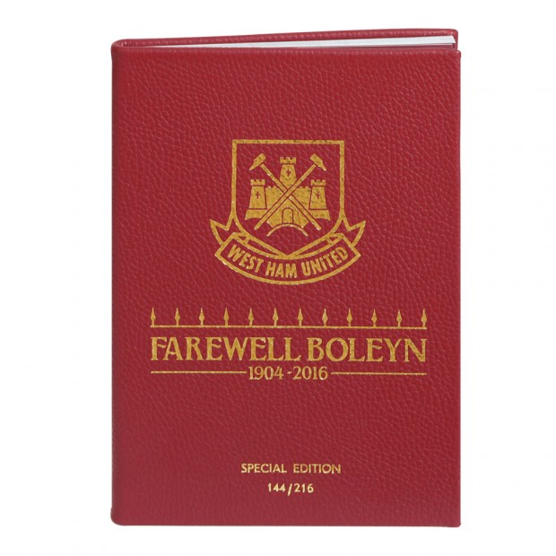 LEATHER BOUND 15/16-MAN UTD PROG -LAST BOLEYN GAME