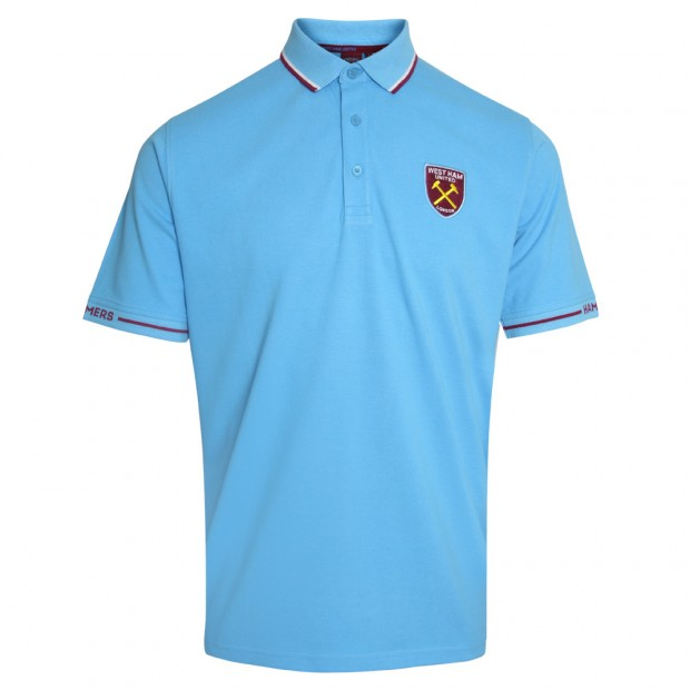 SKY TIPPED HAMMERS SLEEVE POLO