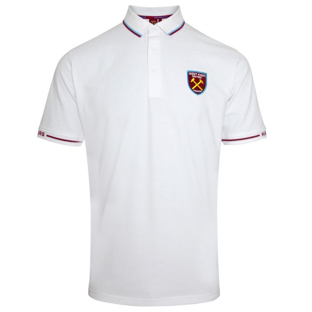 WHITE TIPPED HAMMERS SLEEVE POLO