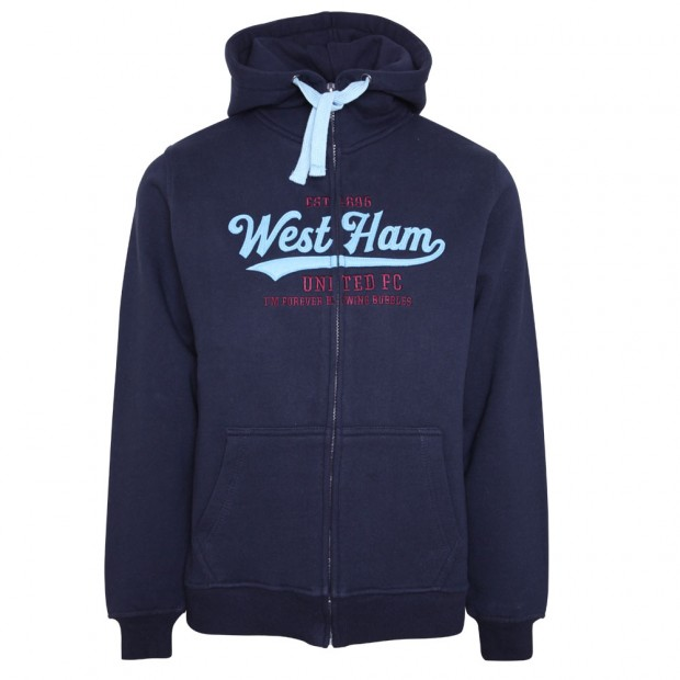 LADIES NAVY WEST HAM HOODIE