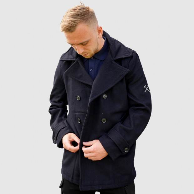 NAVY WOOLLEN JACKET