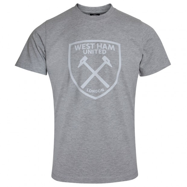 UMBRO X WEST HAM GREY GRAPHIC T-SHIRT