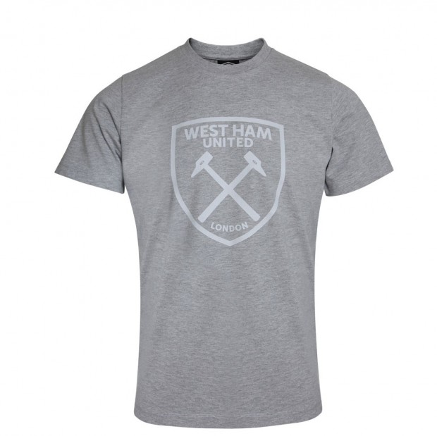 WEST HAM UMBRO X JUNIOR GREY GRAPHIC T-SHIRT