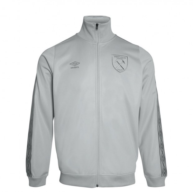 WEST HAM UMBRO X JUNIOR GREY TRICOT JACKET